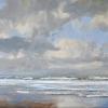 Noordzeestrand Texel, acryl op paneel, 40 x 50 cm