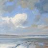 Noordzeestrand Texel, acryl op paneel, 40 x 60 cm