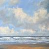Noordzeestrand Texel, acryl op paneel, 50 x 70 cm