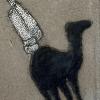 Dromedaris, steengoed, 18 x 13 x 3 cm