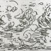 Wolken (2016) ets (oplage 4) 5 x 8 cm (beschikbaar 1/4)