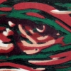 Groene haring (2010) linodruk (oplage 7) 30 x 40 cm
