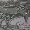 Kauw (2009) linodruk (oplage 50) 14 x 19 cm