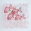 Marian Smit: zonder titel (2014) papier en draad, 25 x 25 cm.