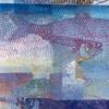 Noordzeevis V (2017) monoprint, 77 x 30 cm