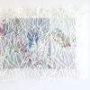 Verbloemen II (2017) drukinkt op papier op doek, circa 30 x 65 x 4 cm