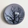 8-Waarneming in glazen bol, fotoprint, diameter 15 cm
