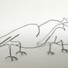 Pauwenpaar (2019) ijzerdraad (2x) 6 x 21 x 6 cm