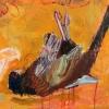 Betteke Akkerman: Fazant 2015 olieverf op doek 115 x 75 cm.