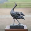 Kraanvogel, brons (oplage 12) 30 x 18 x 10 cm
