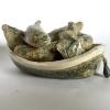 Das Boot, keramiek, 8 x 18 x 12 cm