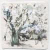 Ellen Geerts: The Forest 1, inkt op papier, 10 x 10 cm (lijst 22 x 22 cm). 145 euro