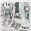 Ellen Geerts: The Forest 3, inkt op papier, 10 x 10 cm (lijst 19 x 19 cm). 145 euro
