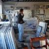 7 februari 2013: Remmelt op atelierbezoek bij Ineke van Harten in Zwolle (foto door Ineke van Harten)