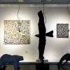 Jolanda van Gennip (schlilderijen) en Arno Goossens (bronssculpturen) in Galerie Posthuys (december 2018)