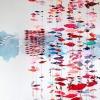 Marian Smit en Maurice Christo van Meijel: Rode School (2020-2021) installatie met muurschildering, papierstructuren, monoprints en keramische objecten