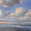Noordzeestrand 16, acryl op doek, 70 x 100 cm