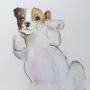 Pup, gemengde techniek op papier, 33 x 27 cm