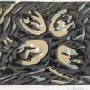 Nestje met eieren (2009) linodruk (oplage 6) 15 x 20 cm