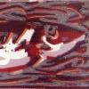 Rode haring (2010) linodruk (oplage 4) 30 x 40 cm