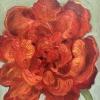 In volle bloei, olieverf op MDF, 12 x 10 cm