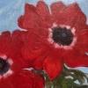 Rode anemonen (2020) olieverf op paneel, 14 x 18 cm