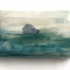 Home 8, mixed media op keramiek, 6 x 11,5 x 2 cm