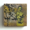 Little pieces, mixed media op hout, 14 x 14 x 3 cm