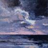 Wolken bij de paal, olieverf op doek, 63 x 63 cm