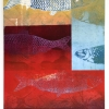 Haringcompositie (2016) monoprint, 49 x 36 cm