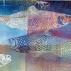 Noordzeevis I (2017) monoprint, 30 x 77 cm