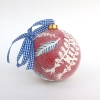 Kerstbol V (2017) keramiek, doorsnede 10 cm