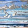Lucht bij De Koog (06 VIII 2019 B) pastel, 24 x 30 cm - lijstmaat 30 x 40 cm