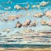 Wolken bij De Koog (11 VII 2020) pastel, 44 x 61 cm