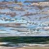 Noordzee (04 IX 2020 B) pastel, lijst 20 x 20 cm