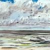 Noordzee (16 VII 2021) pastel, 23 x 70 cm (lijst 38 x 85 cm)