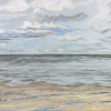 Zee bij De Koog (4 VIII 2018) soft pastel en grafiet, 60 x 75 cm