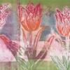 Tulpen II (2017) monoprint, 30 x 77 cm