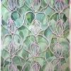 Lathyrus Odoratus Lilac (2017) aquarel en papierstructuur, 40 x 32 cm