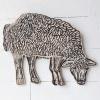 Grazend schaap (2021) linoleumdruk op triplex (oplage 5) 46 x 57 x 6 cm