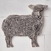 Staand schaap (2021) linoleumdruk op triplex (oplage 5) 47 x 60 x 6 cm