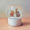 Sneeuwbol, olieverf op paneel, 12,5 x 12,5 cm