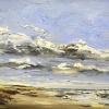 Sea rain (2016) olieverf op doek, 30 x 40 cm.