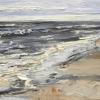 Wave of life (2018) olieverf op doek, 30 x 40 cm