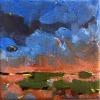 Als de avond valt, olieverf op doek, 13 x 13 cm