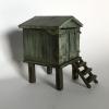 Strandhuisje, brons, 9 x 6 x 9 cm