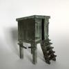 Strandhuisje, brons, 11 x 6 x 9 cm